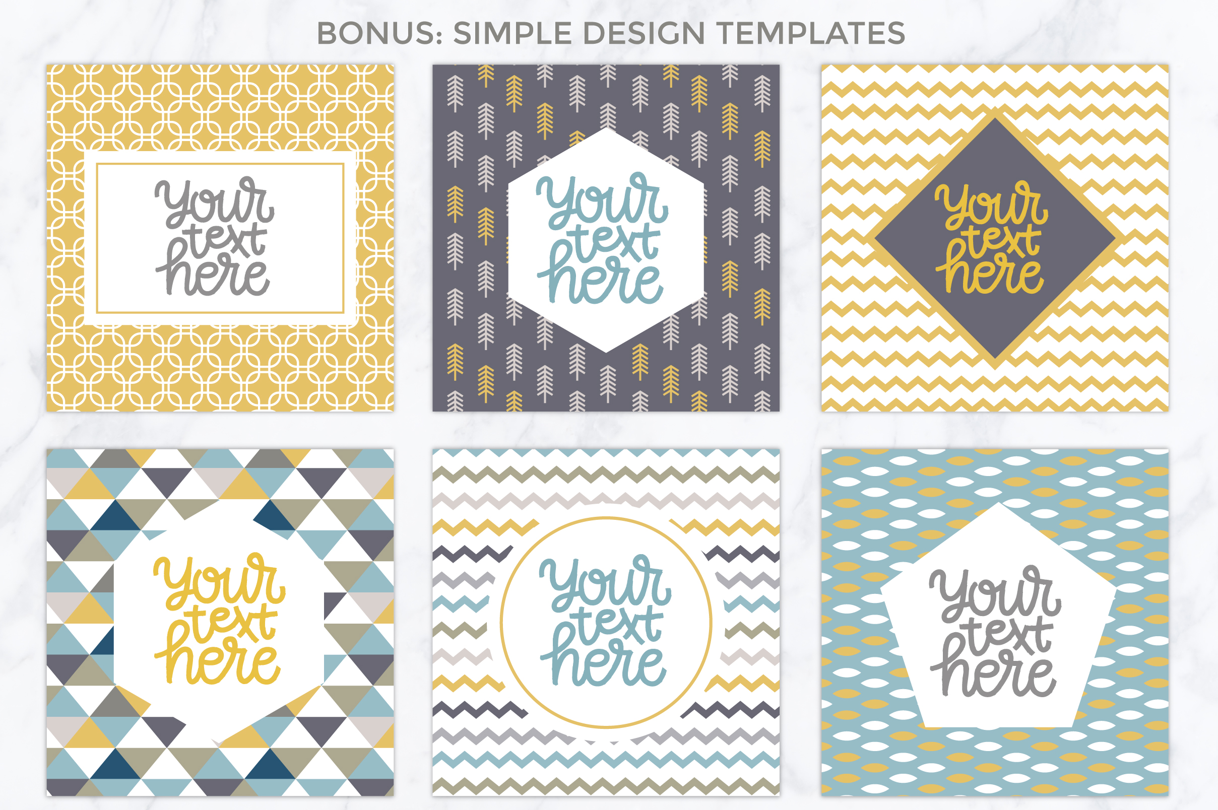 26 vector patterns Trendy Colors example image 6