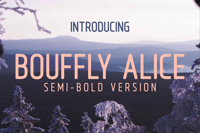 Bouffly Alice Semi-Bold Versionl Elegant font sans serif example image 1