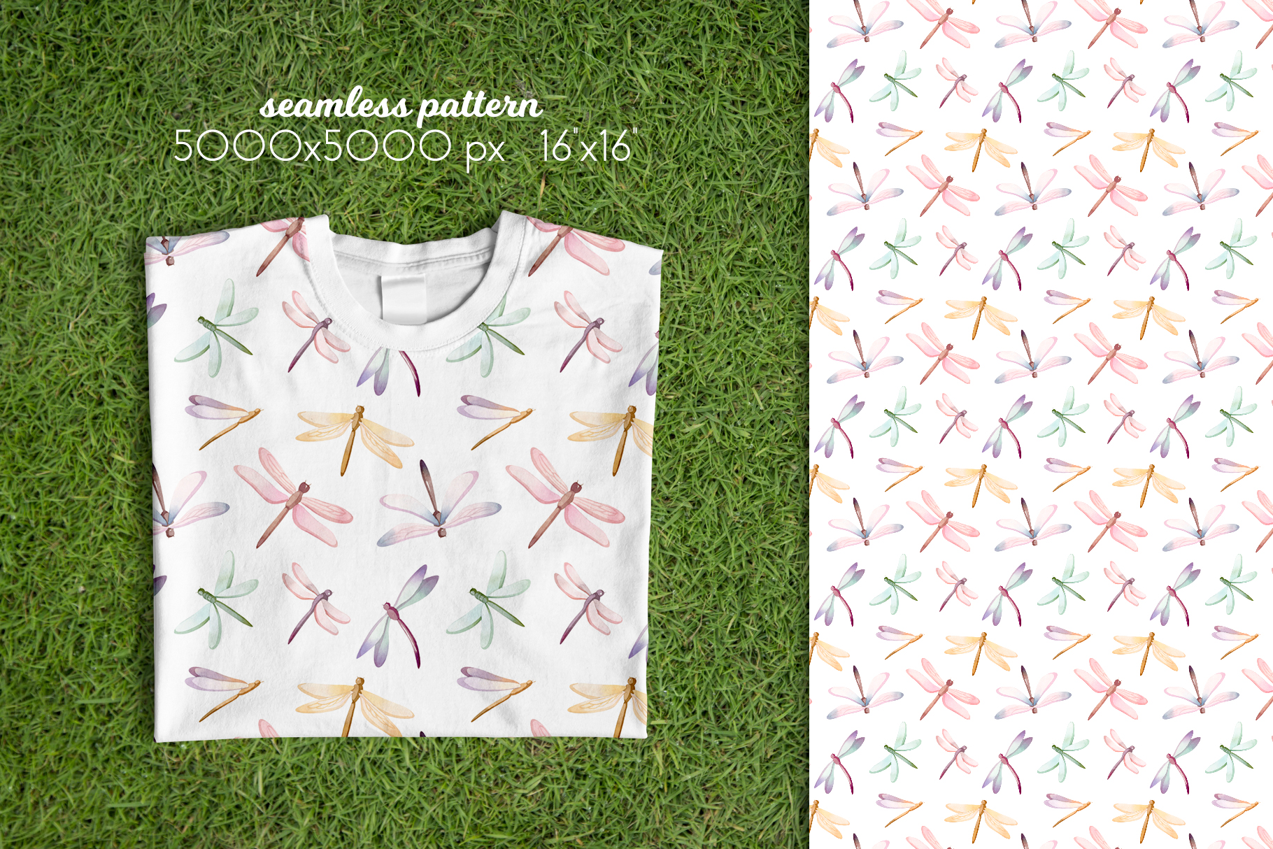 Butterflies and Dragonflies Patterns Collection example image 10