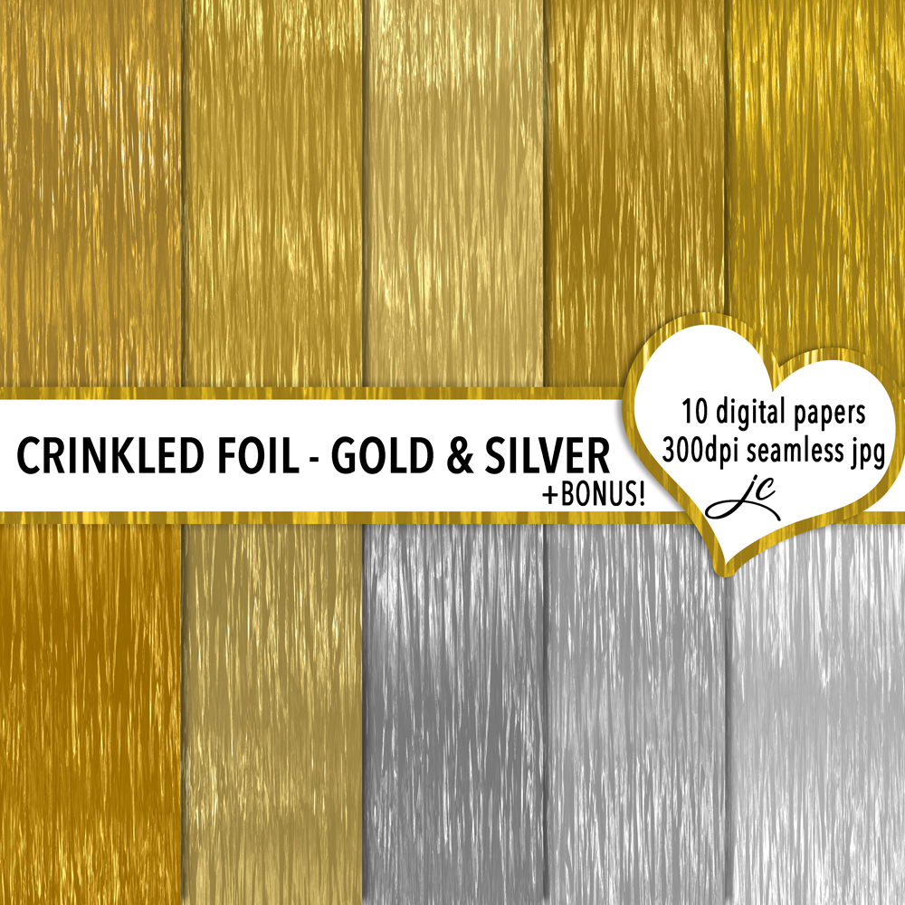 Crinkled Foil - Gold and Silver example image 1