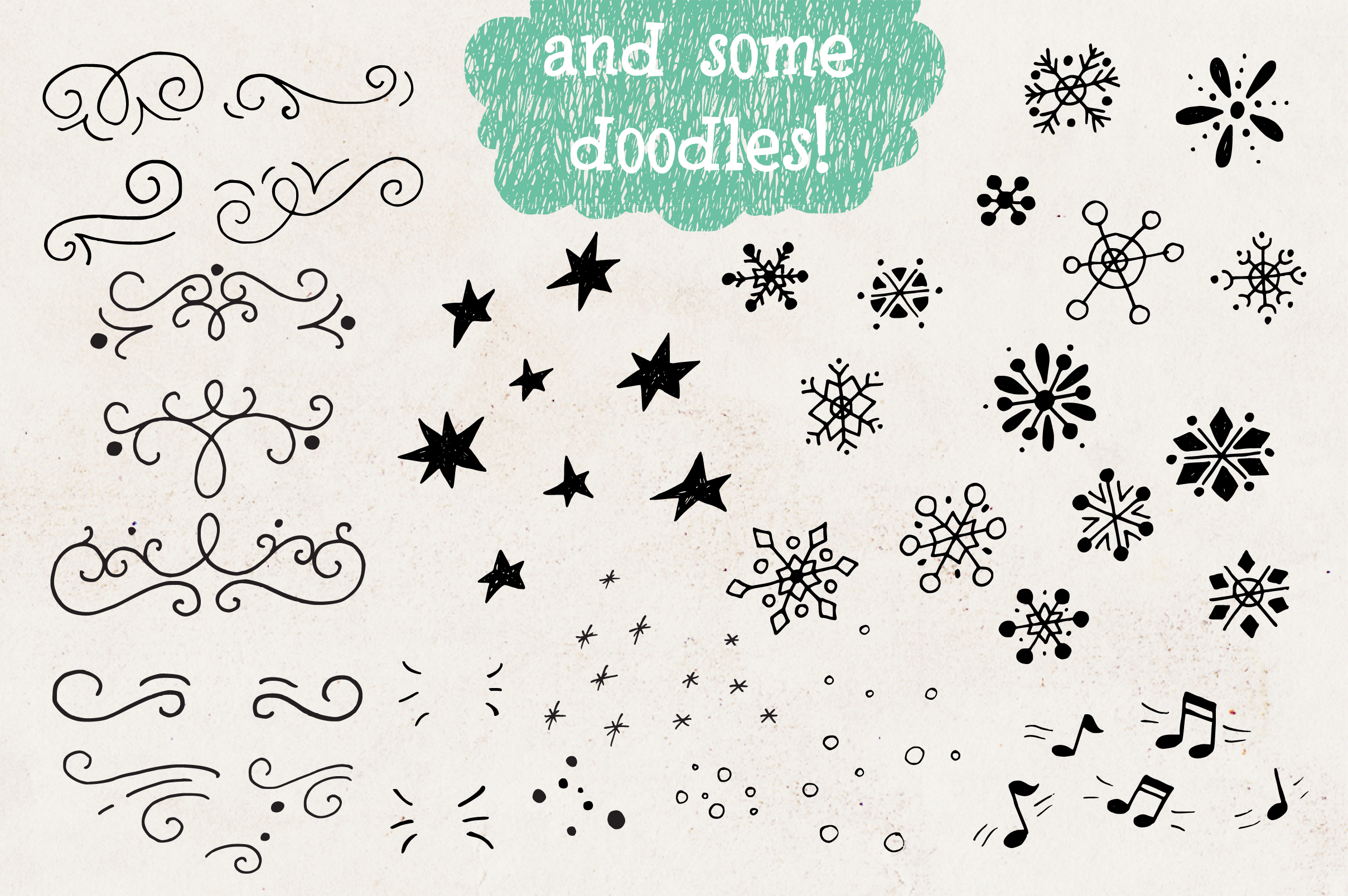 Cozy Christmas Lettering & Clipart example image 6