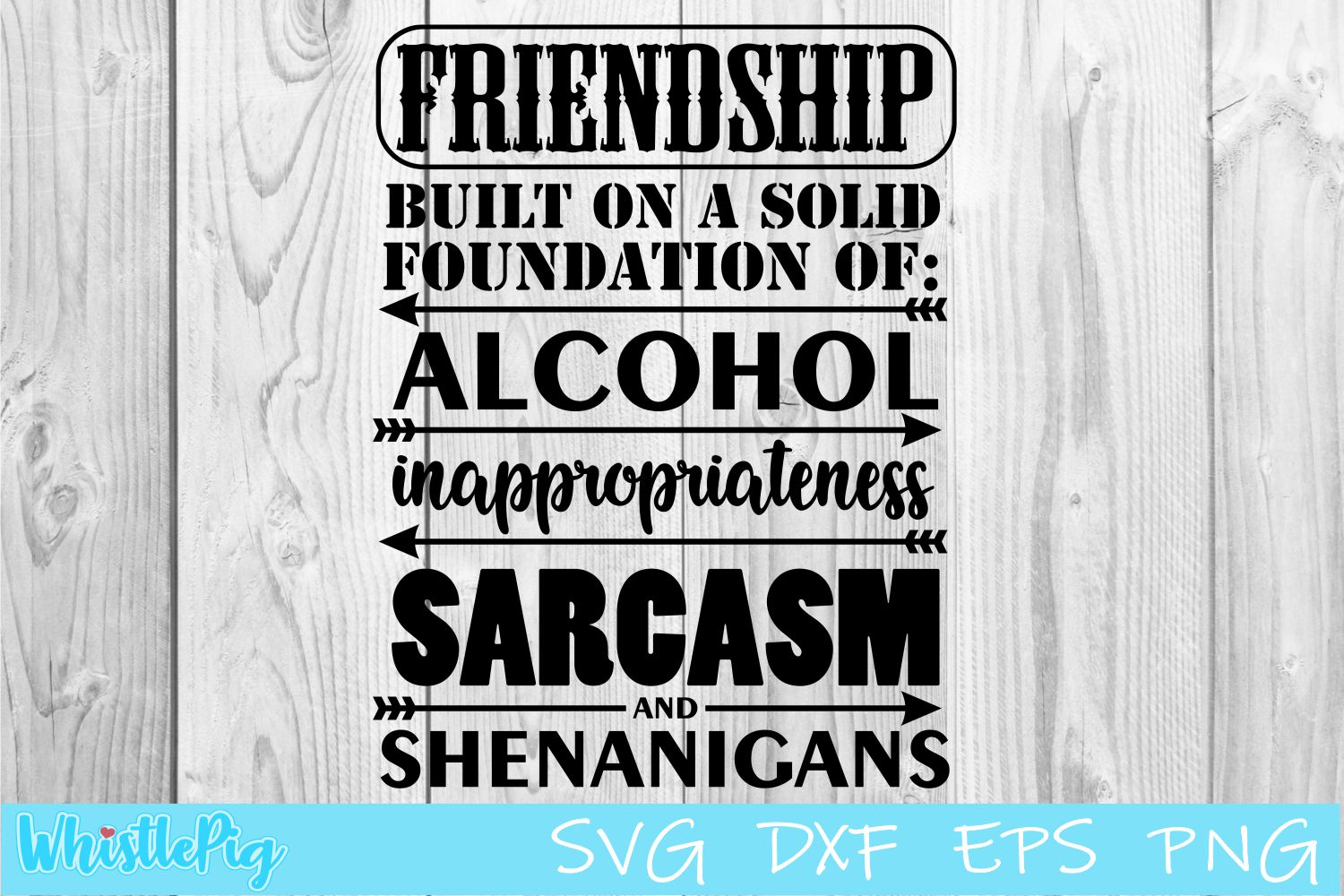 Friendship SVG DXF EPS Built on the Foundations Of SVG example image 1