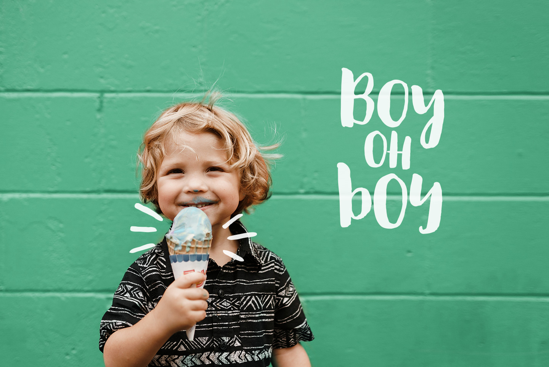 August Boy - Modern, bold, brush font + dingbat clipart example image 4