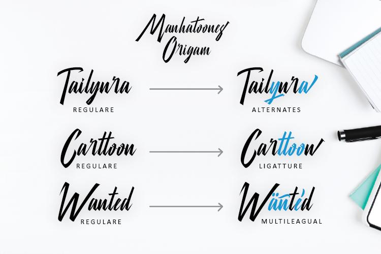 Manhatoone Script, 3 font example image 4