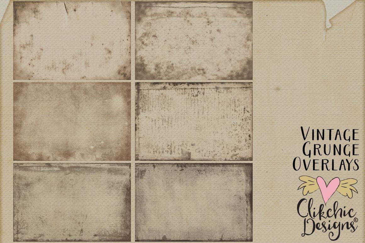 Grunge Textures - Vintage Grunge Transparent Textures example image 5
