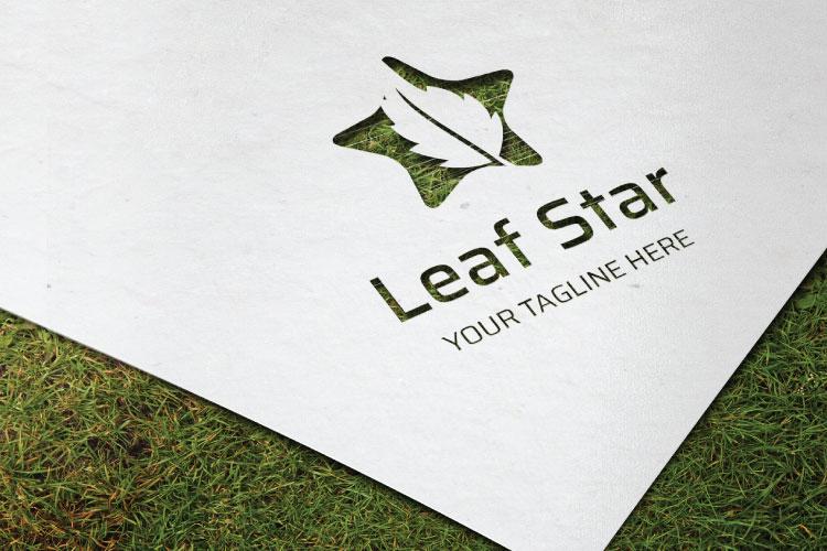 Oak leaf in Star Logo example image 2