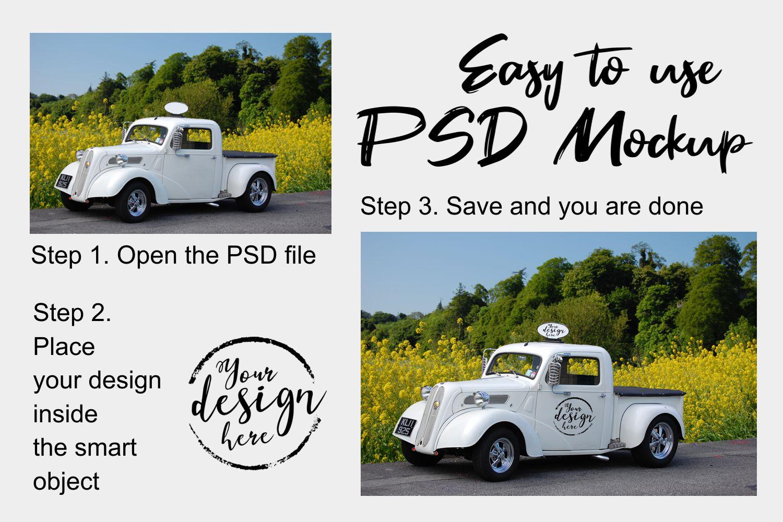 Car decal mockup / car sticker mockup example image 2