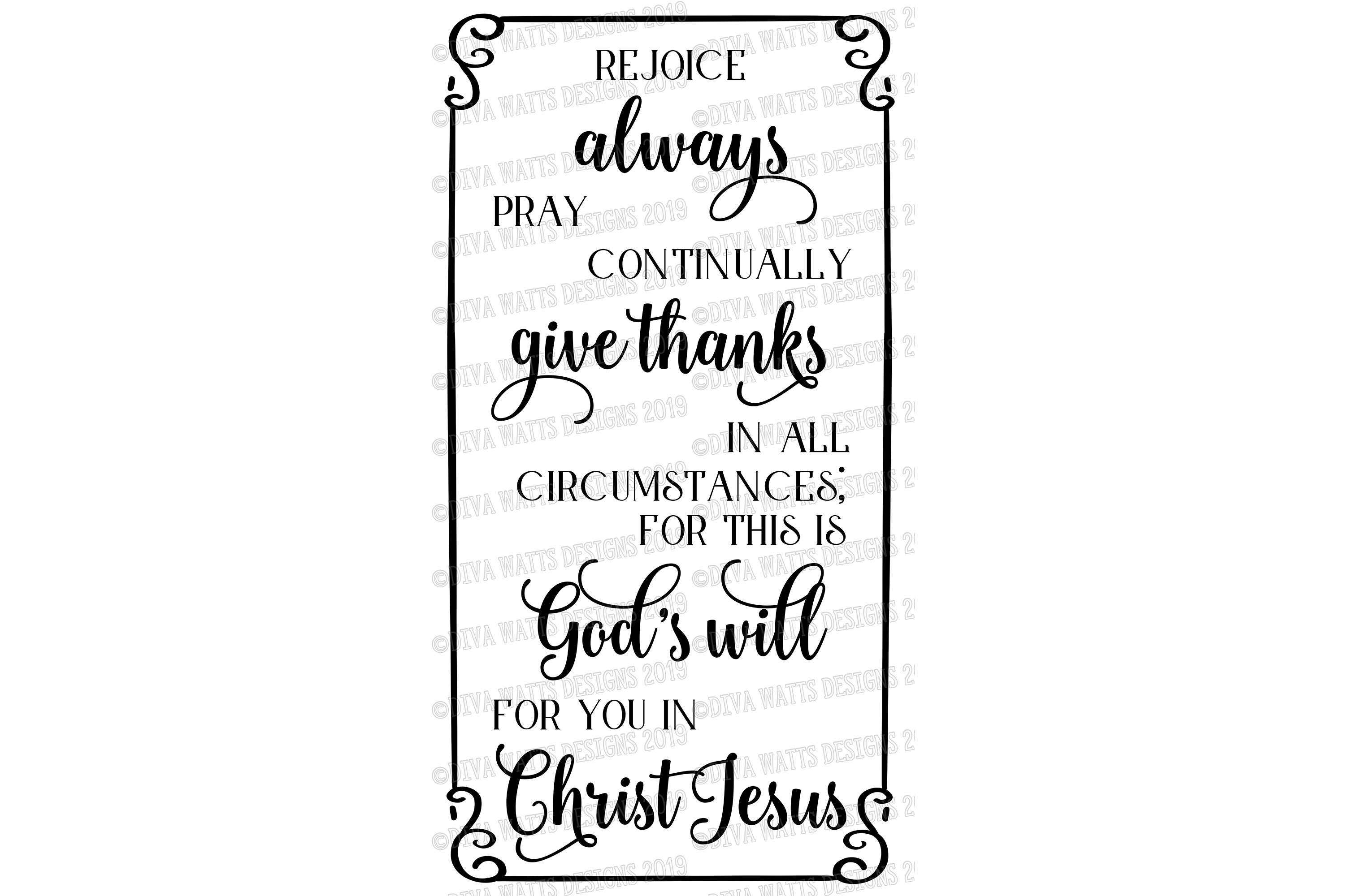 Rejoice Always Pray Continually Give Thanks God's Will Verse example image 3