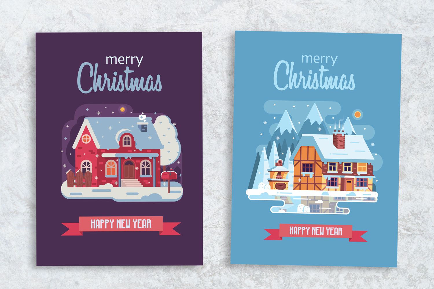 Winter Houses Christmas Cards example image 8