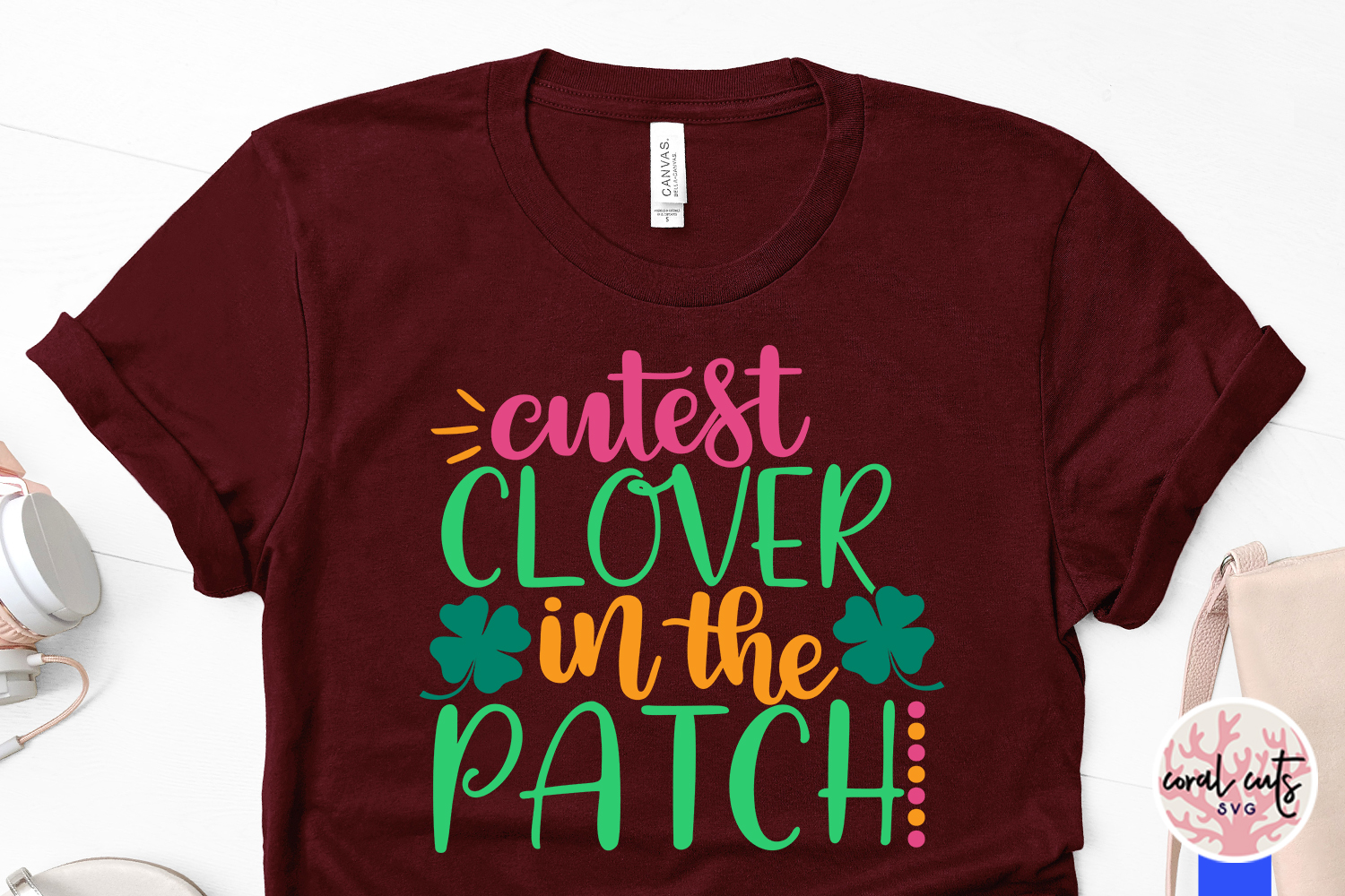 Cutest clover in the patch - St. Patrick's Day SVG EPS DXF example image 3