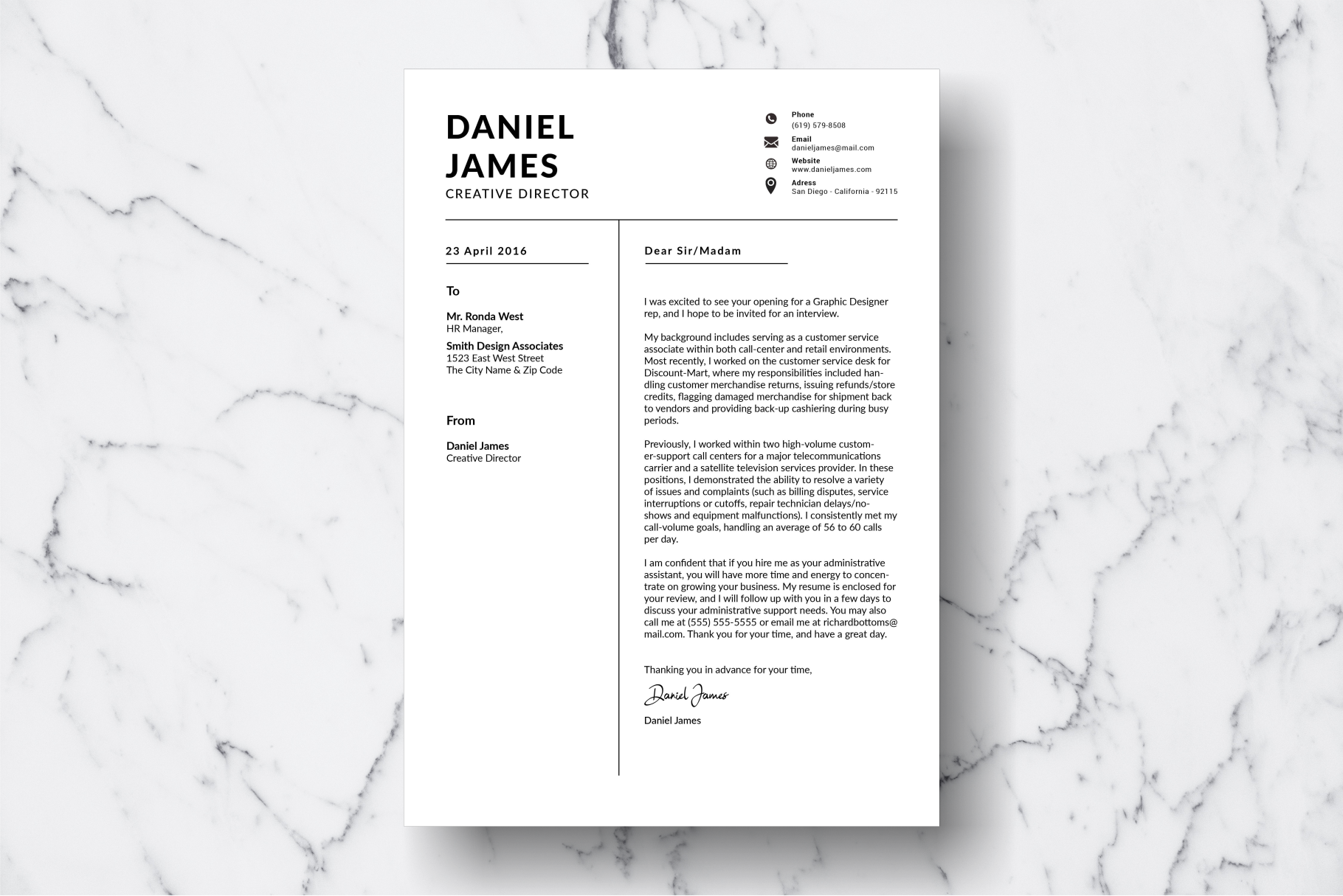 Resume Template Vol. 10 example image 3