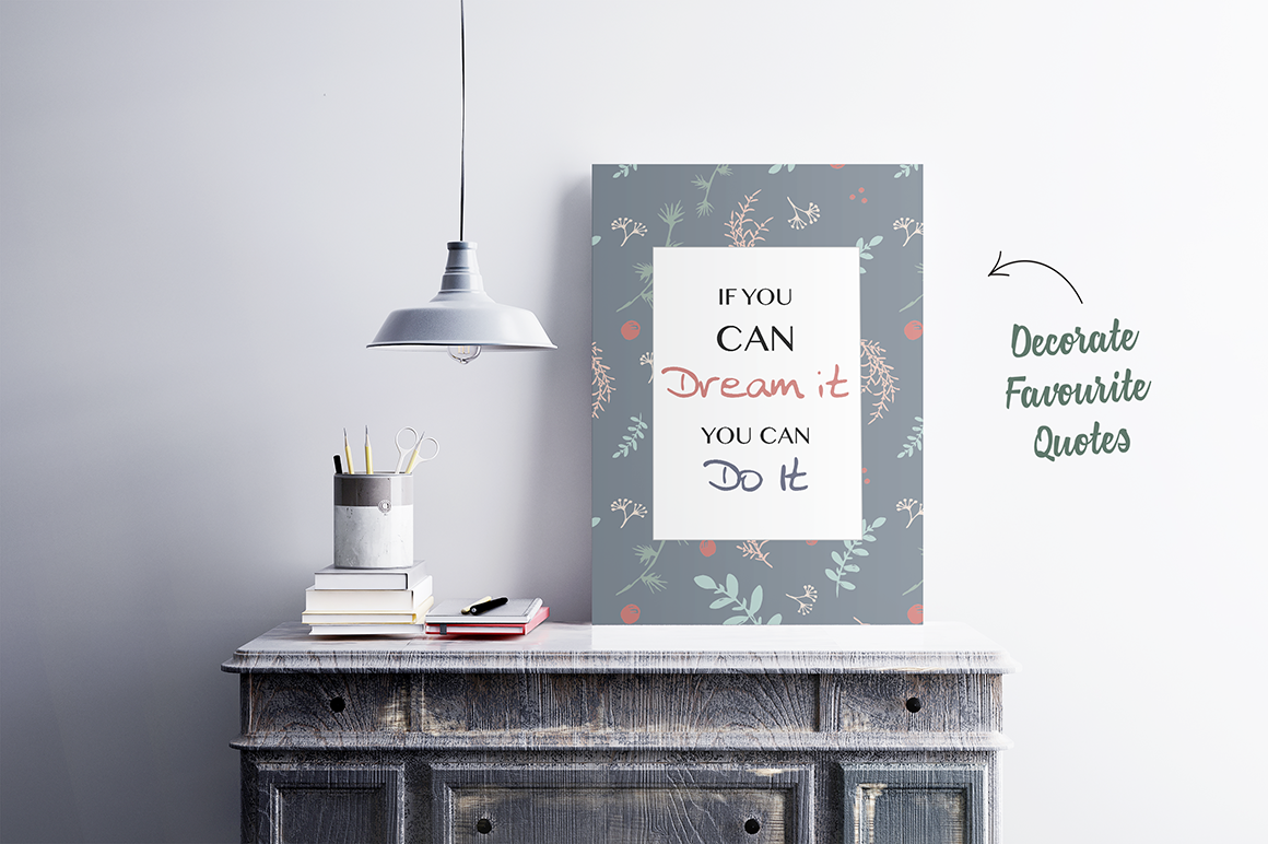 70 Wallpaper Floral Elements and Patterns example image 7