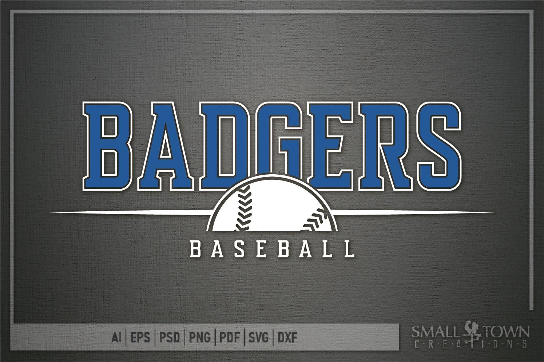 Badger, Badger Baseball Team, Sport, PRINT, CUT & DESIGN example image 5