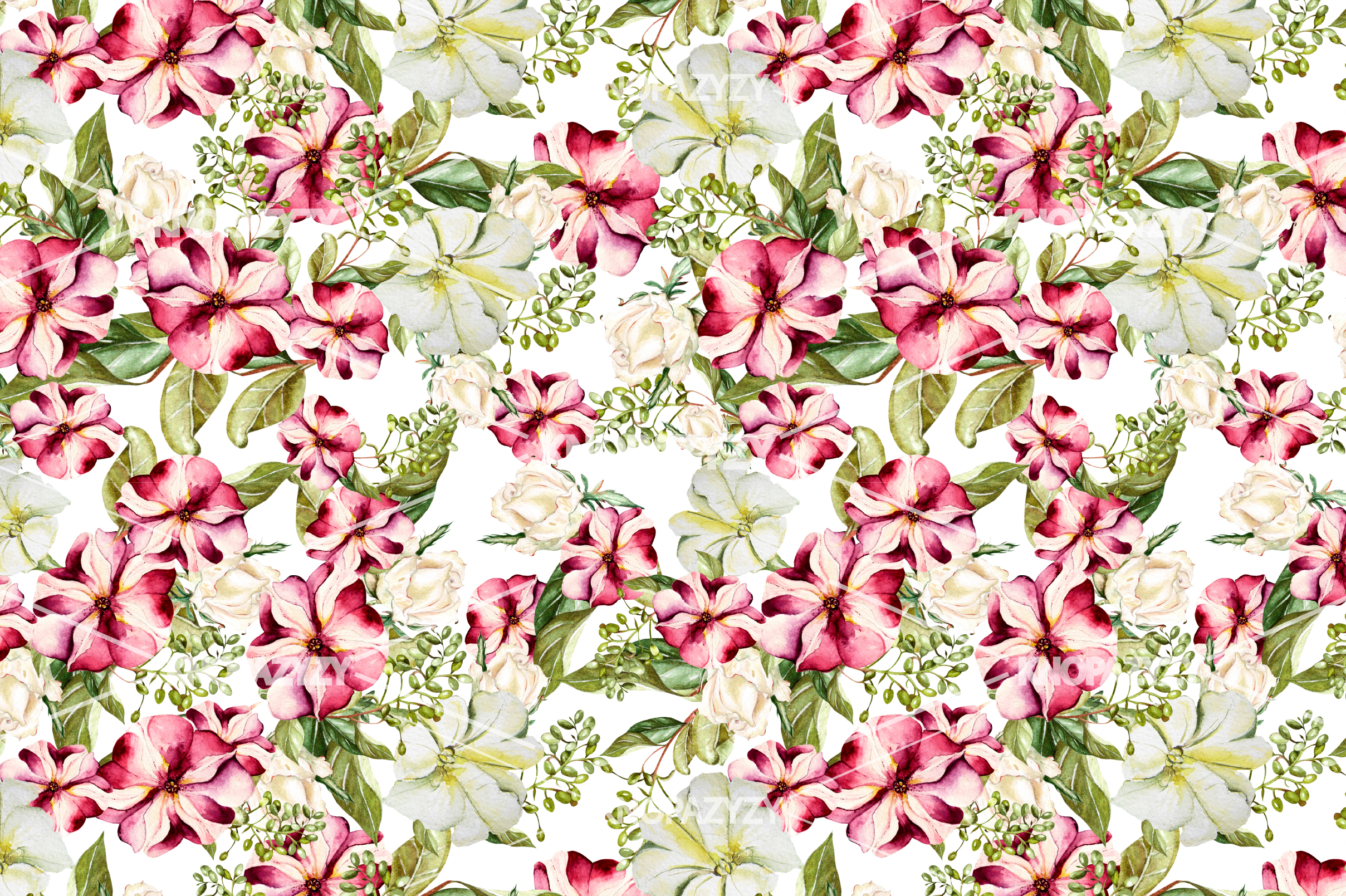14 Hand drawn watercolor patterns example image 5
