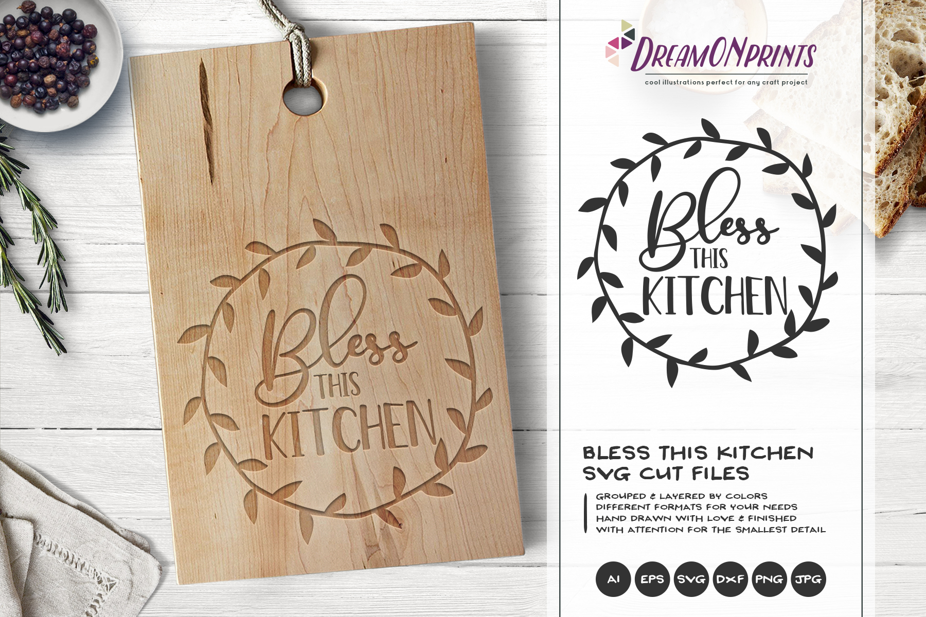Kitchen SVG Bundle - Kitchen Sign Making SVG example image 5