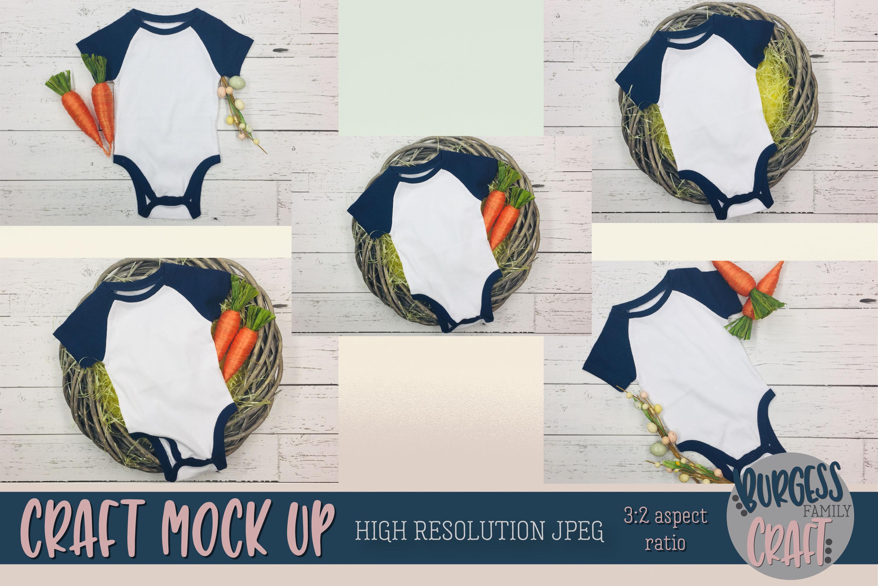 Easter Baby bodysuit Craft mock ups |High Resolution JPEG example image 2