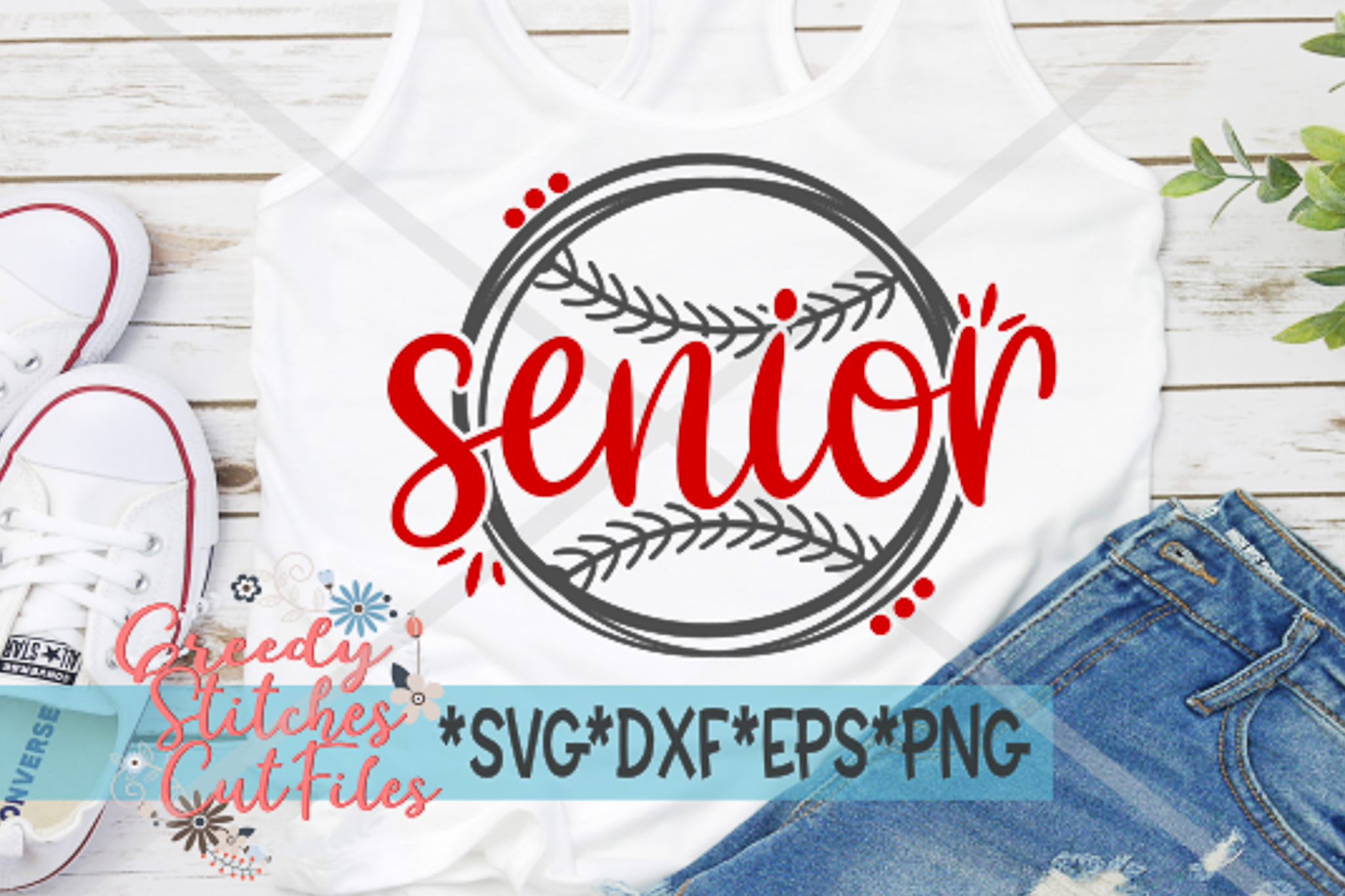 Senior Softball SVG, DXF, EPS, PNG Files example image 2