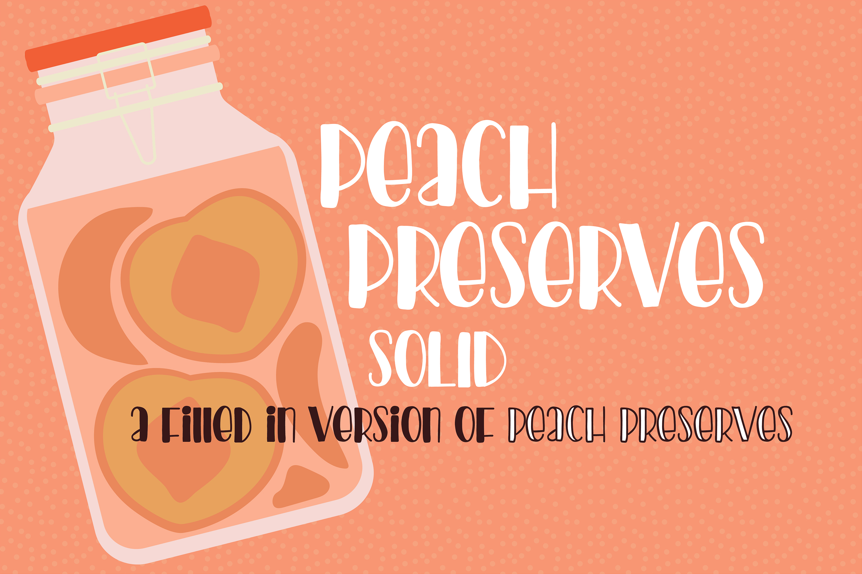 PN Peach Preserves Font Duo example image 9