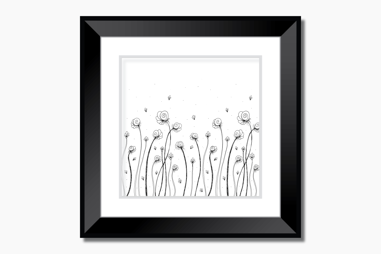 Léa Flowers Garden Doodle Art, A1, SVG example image 9