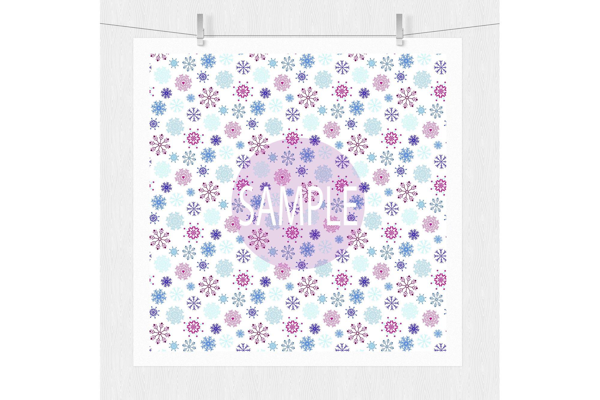 Frozen Digital Paper - Pattern Design example image 2