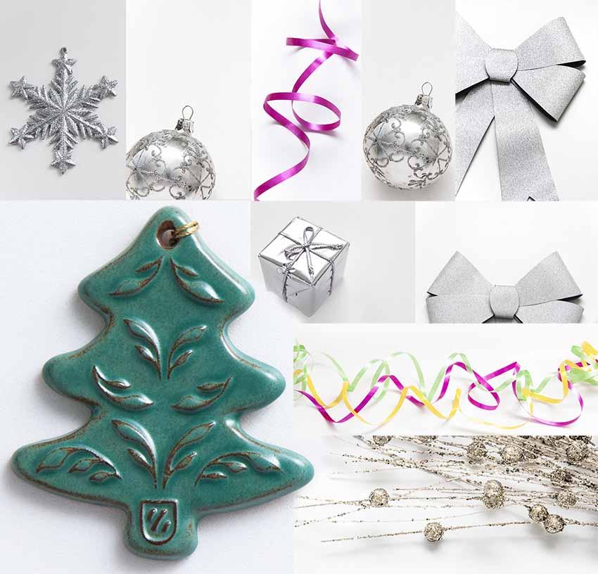 10 Stock photo mix Bundle flatlay Holiday decor mock up Holiday festive New Year Christmas  example image 1