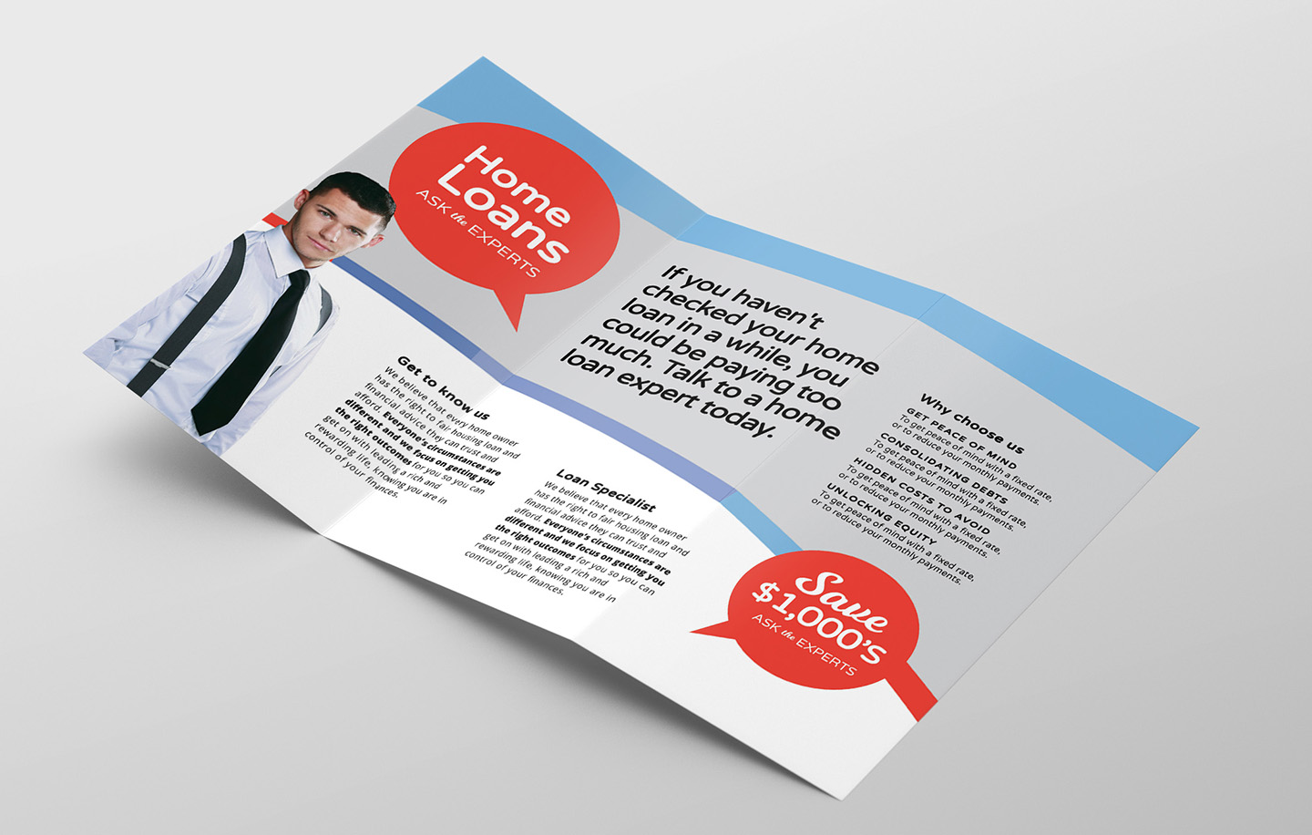 Modern Corporate Tri-Fold Brochure Template example image 2