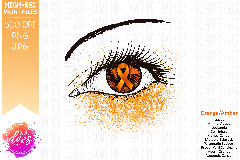 Orange Awareness Ribbon Eye - Printable Design example image 2