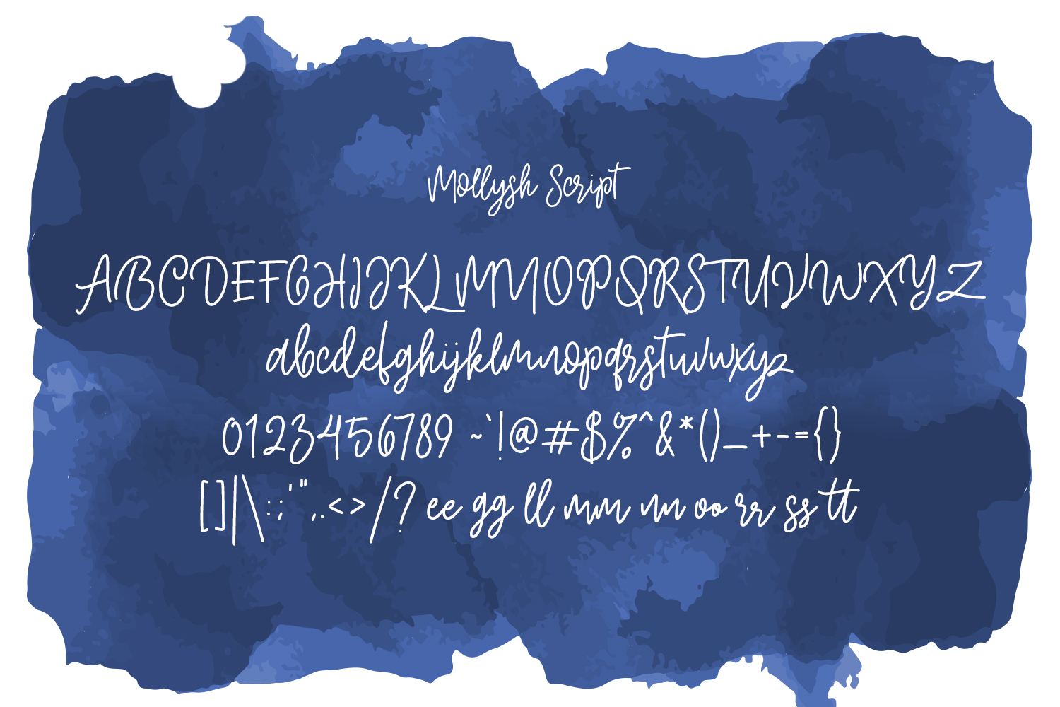 Mollysh Calligraphy Font example image 6