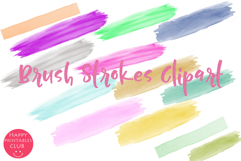 Brush Strokes Clipart- Clipart Brush Strokes example image 2