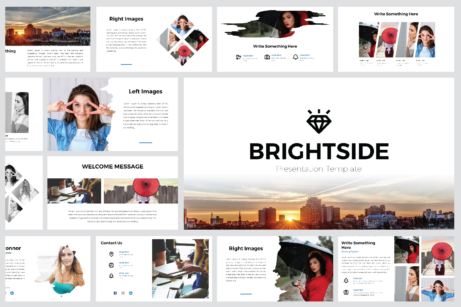 Brightshide PowerPoint Template example image 1