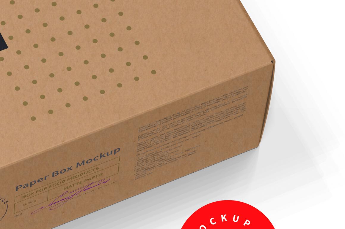 Kraft Paper Box Mockup Half Side View example image 6