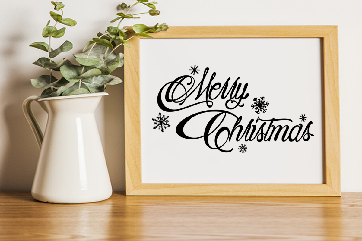 Merry Christmas svg Winter svg Snowflake svg example image 4
