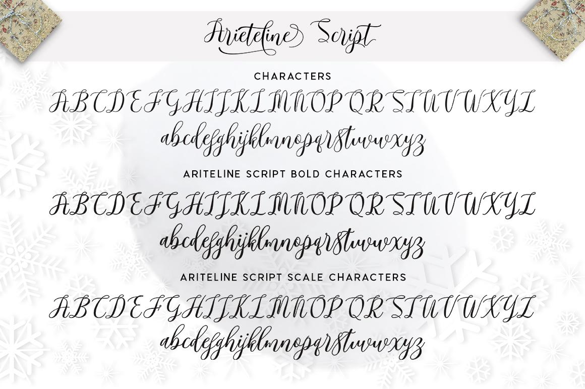 Arieteline Script example image 8