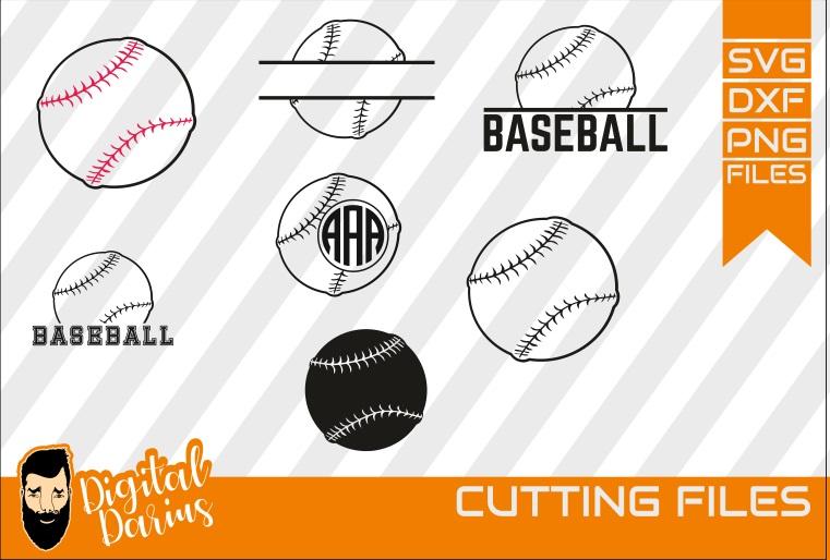 7x Ball Svg, Hobby dxf, Baseball svg, Softball svg, Sport example image 1