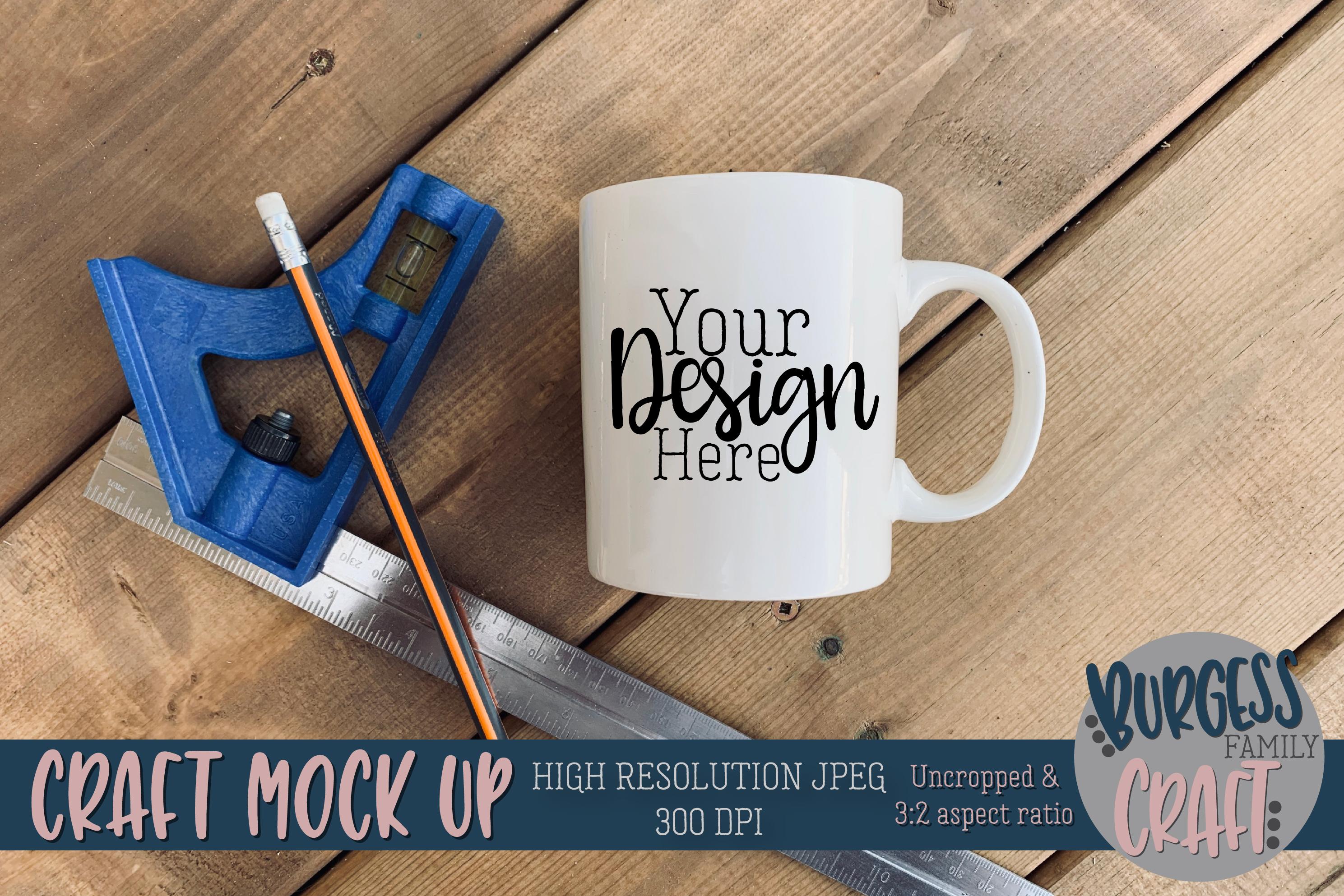 Mug tools mens square Craft mock up|High Resolution example image 1
