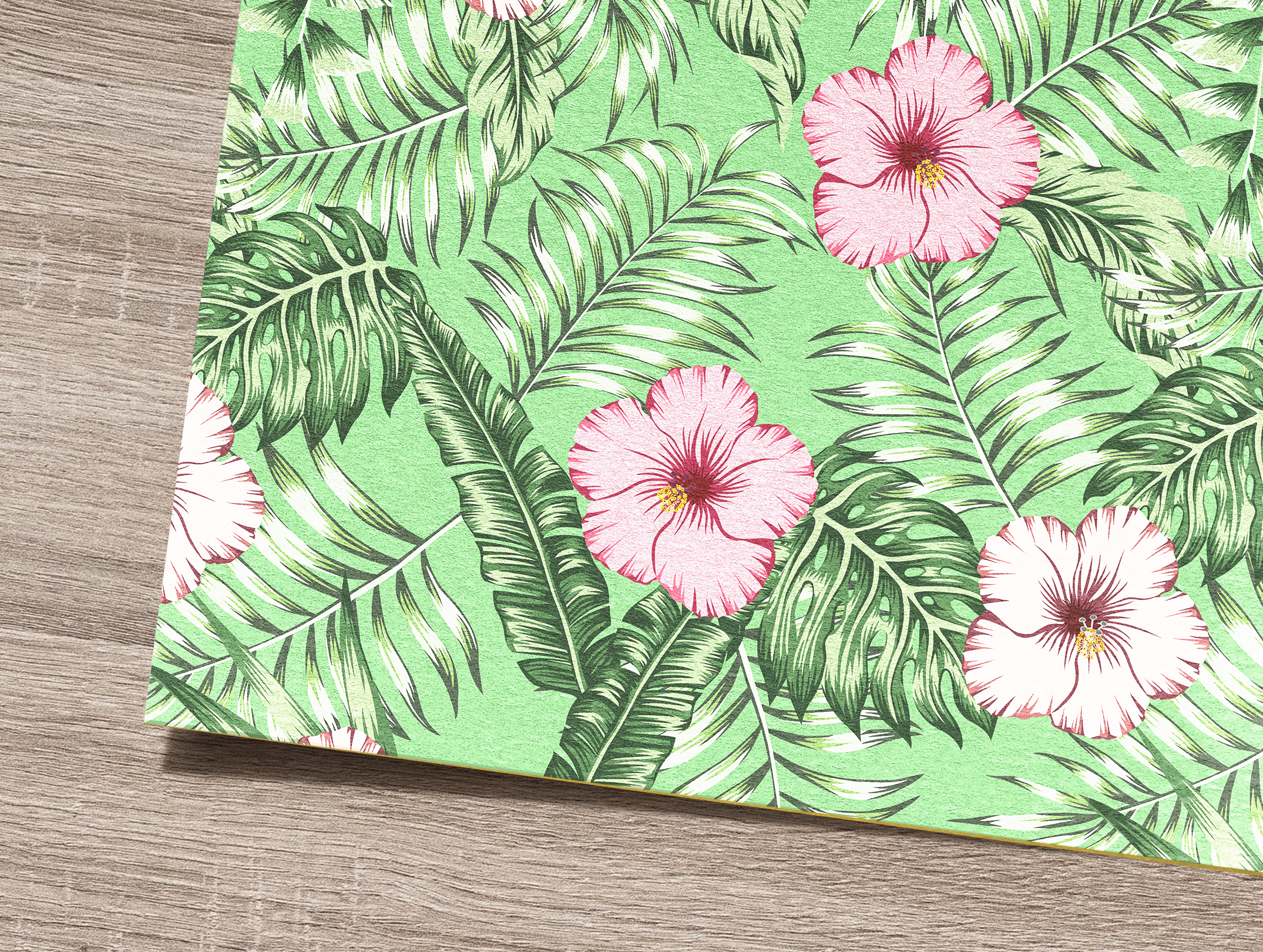 Tropical flowers and leaves pattern. Seamless design. example image 11