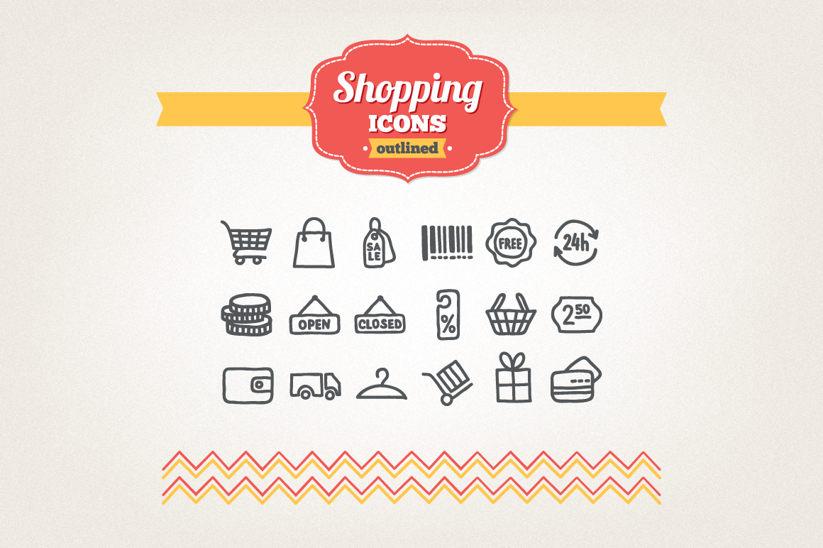 Hand Drawn Shopping Icons example image 1