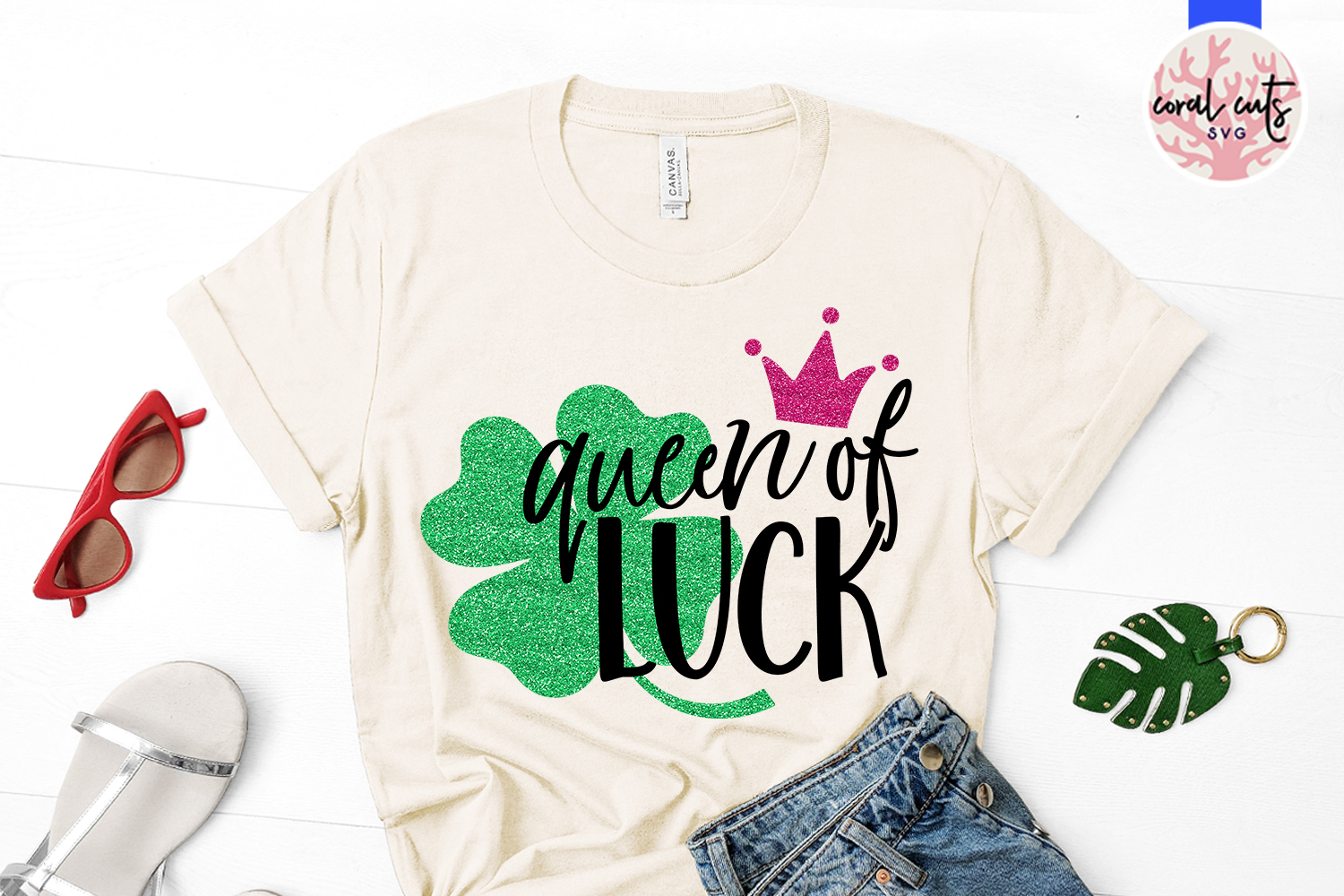 Queen of luck - St. Patrick's Day SVG EPS DXF PNG example image 2