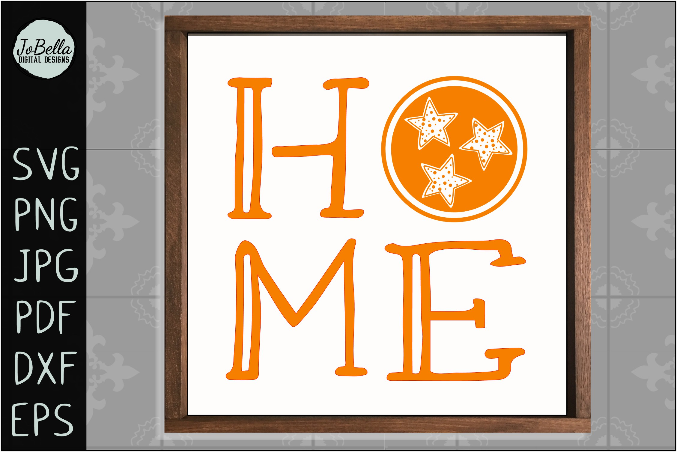 Home with Polka Dot TriStar SVG, Sublimation PNG & Printable example image 3