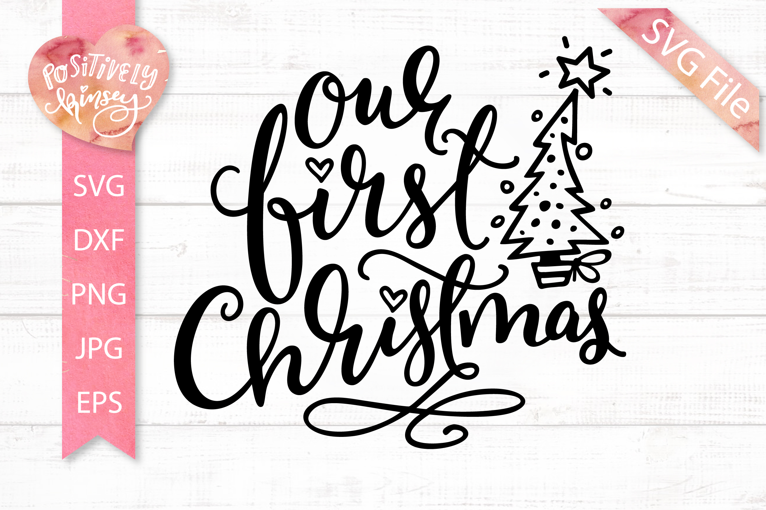 Our First Christmas SVG DXF PNG EPS Family Christmas Quote example image 3