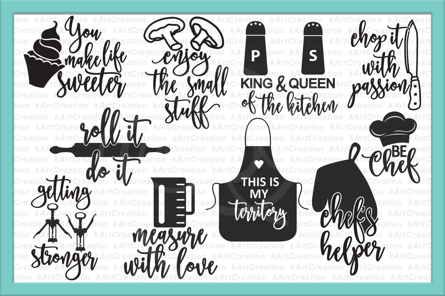 Chicken Printable Quotes: Bundle Kitchen Sayings Towel Designs Svg Dxg Cutting Files