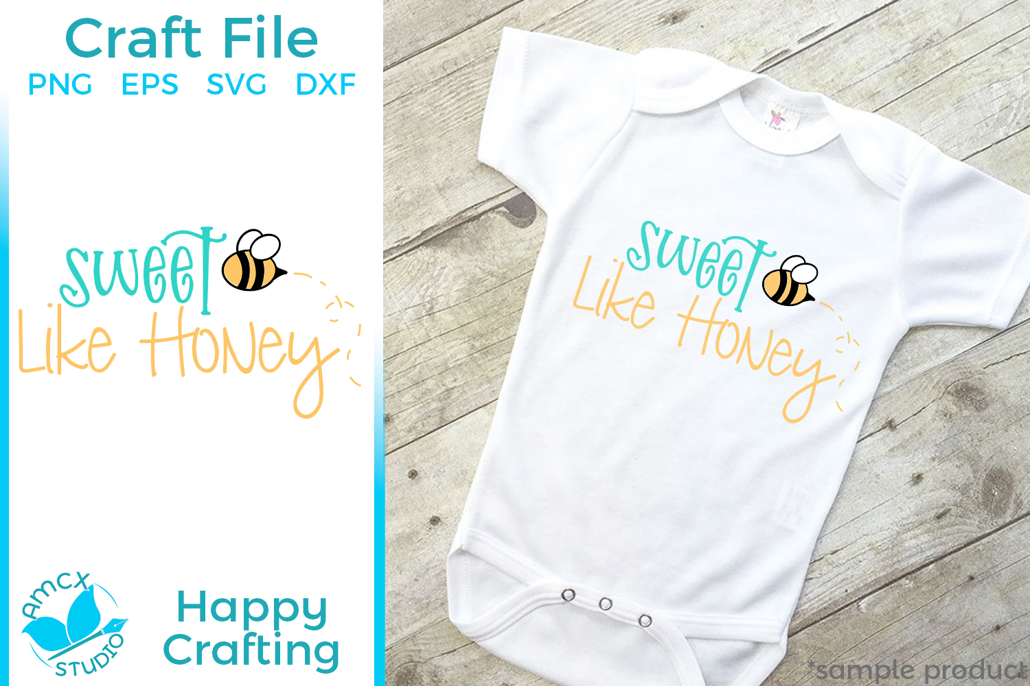 Sweet Like Honey - A Baby SVG File example image 1