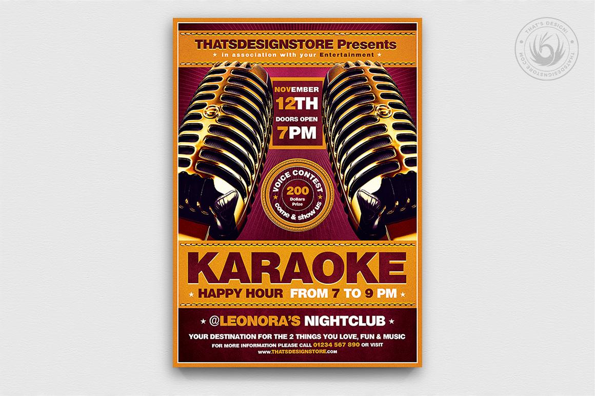 10 Karaoke Flyer Bundle example image 11