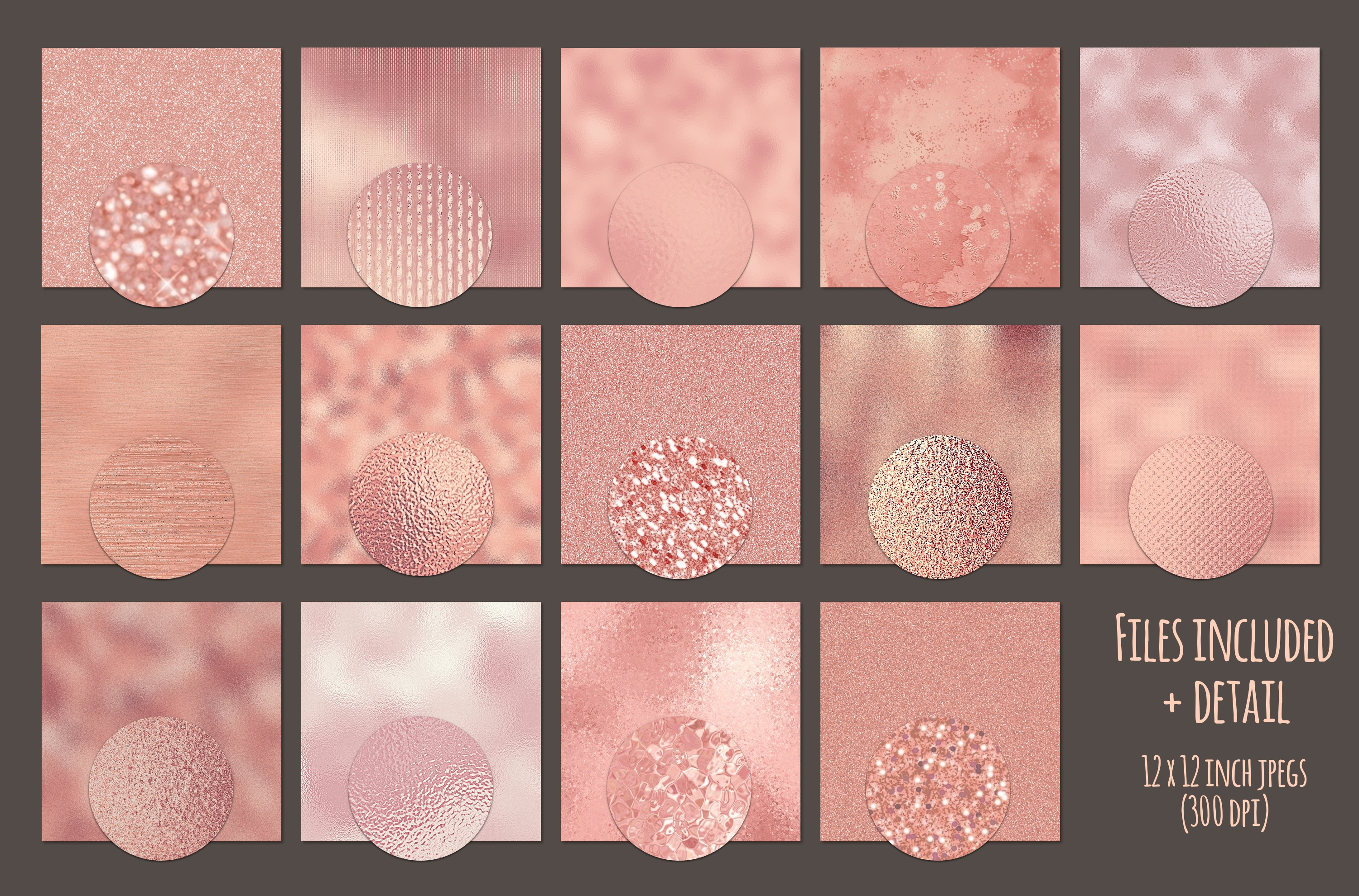 Rose gold textures example image 2