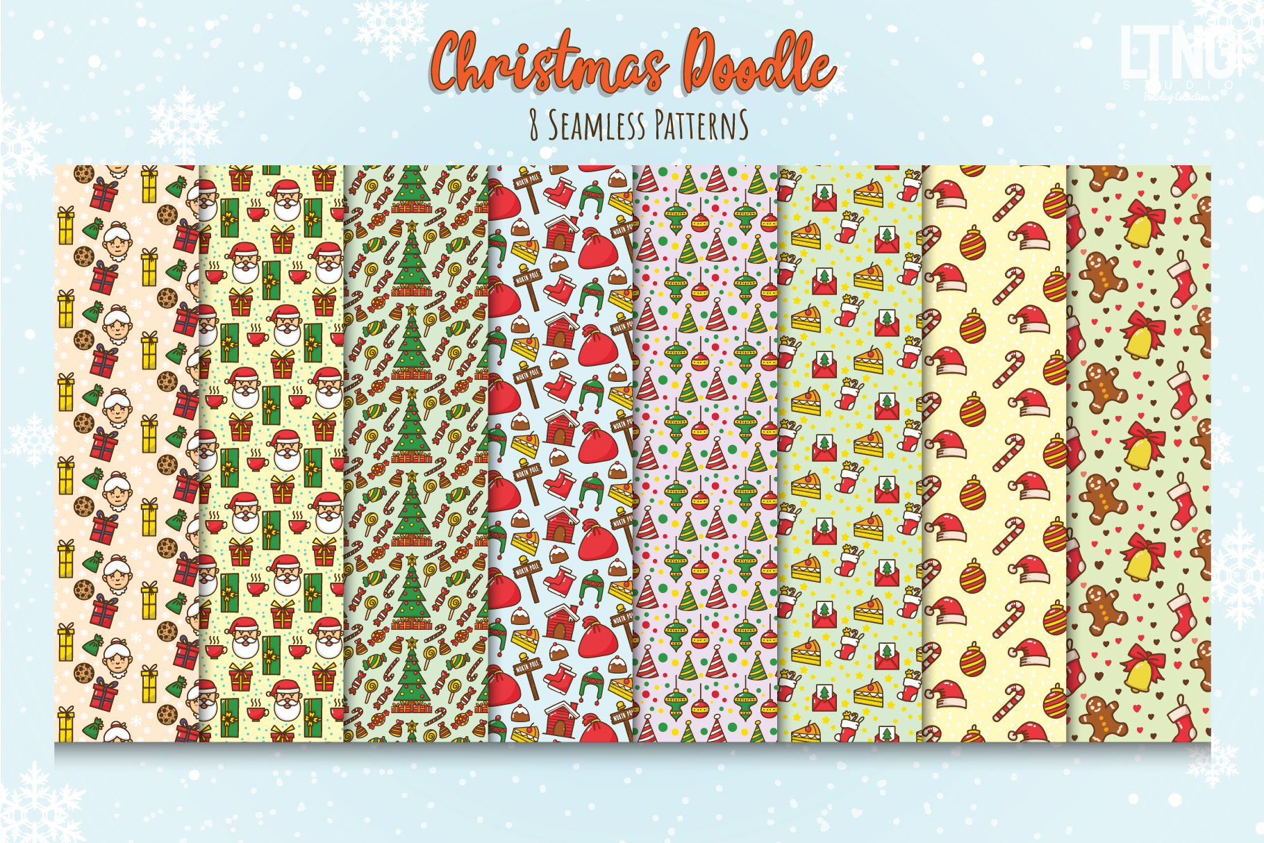 Christmas Doodle Graphic Element Part 1 example image 3