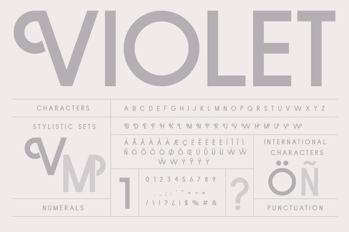 Violet | A Stylish Sans Serif example image 5