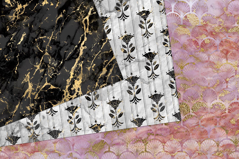 Marble Art Deco Digital Paper example image 4