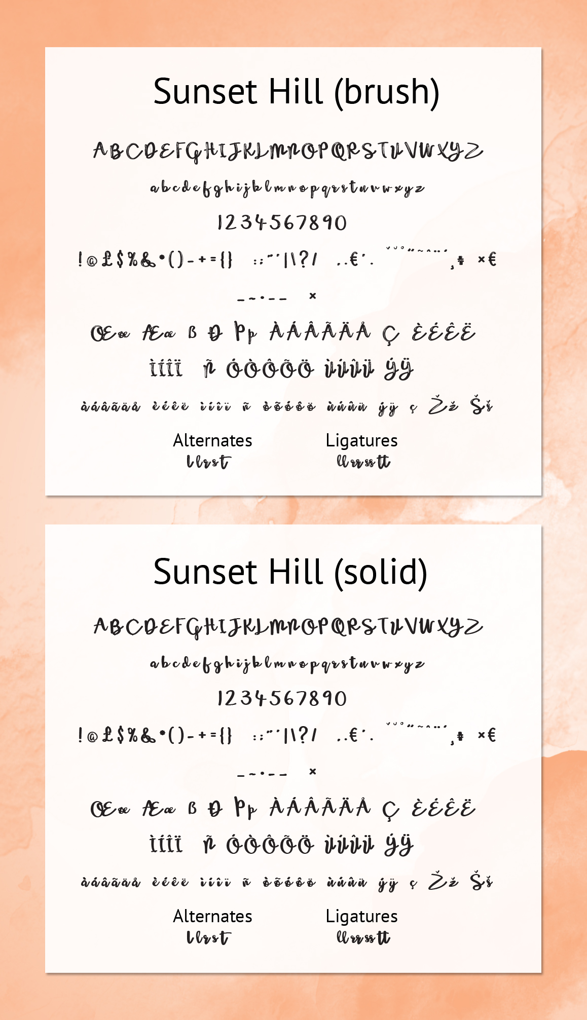 Happy Girl & Sunset Hill Font Duo example image 7