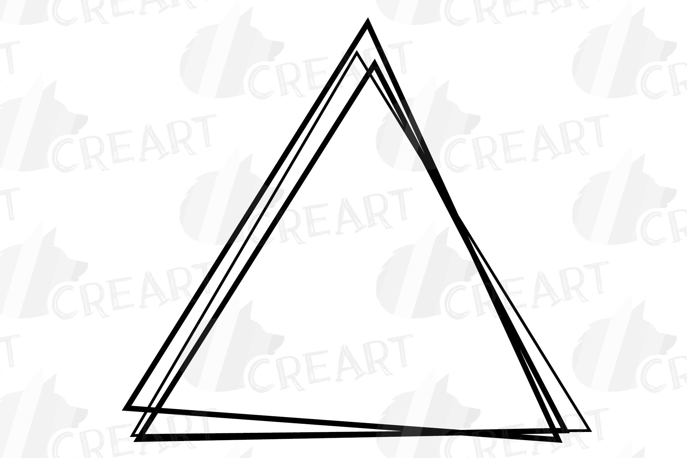 Geometric lineal black frames decor clip art. Wedding border example image 3