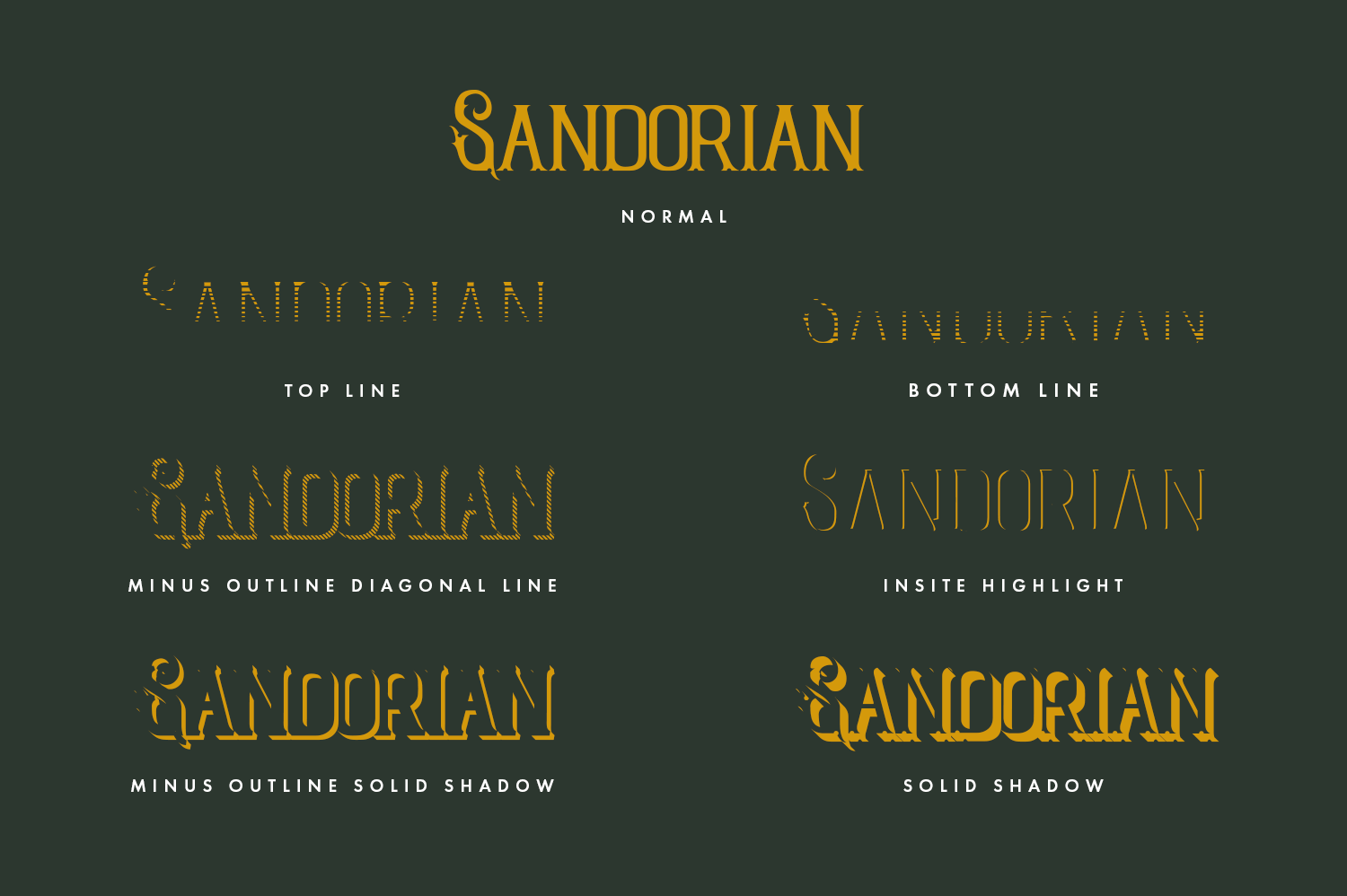 Sandorian Multi Layered Fonts example image 2